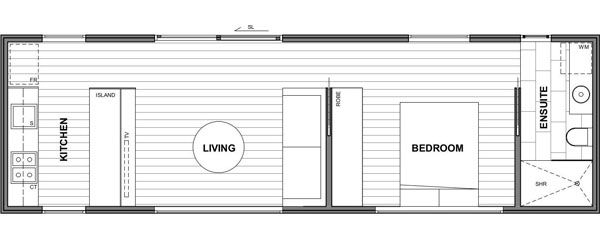 Design 1 (1 Bedroom Unit with Living Area)